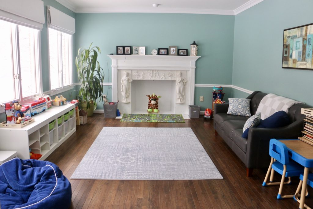 modern playroom decor organization