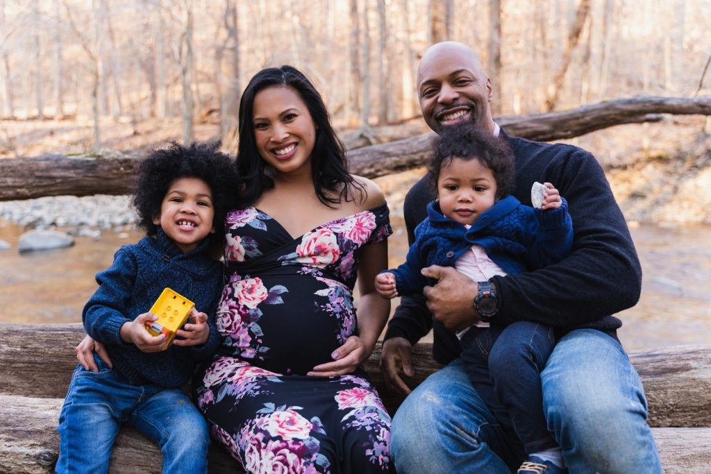 family maternity photoshoot Maryland Washington, DC