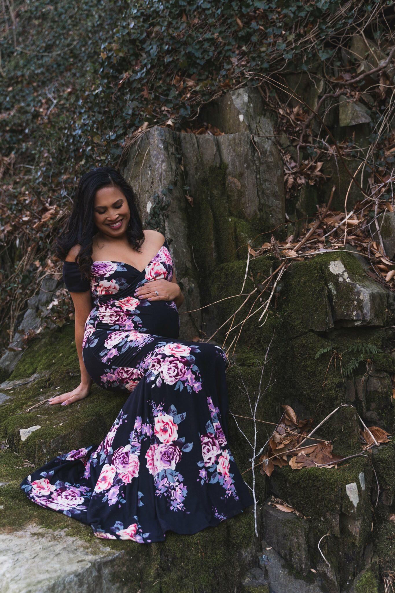 maternity dress family photoshoot Maryland Washington, DC