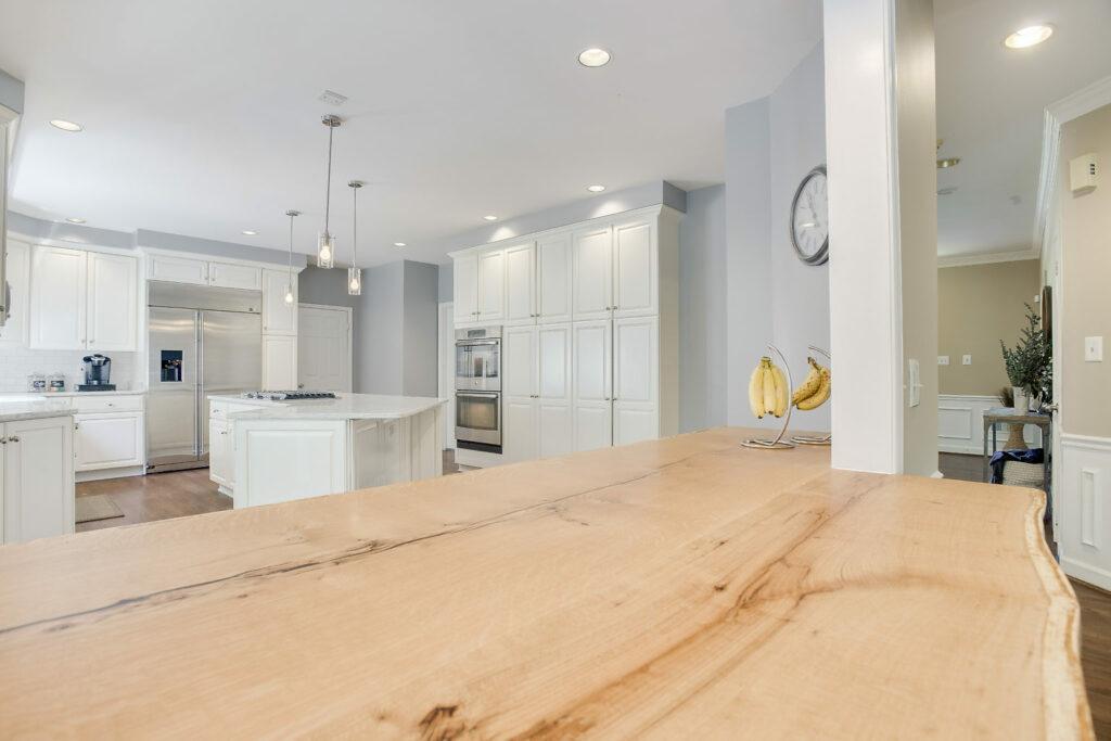 white kitchen renovation modern farmhouse butcher block
