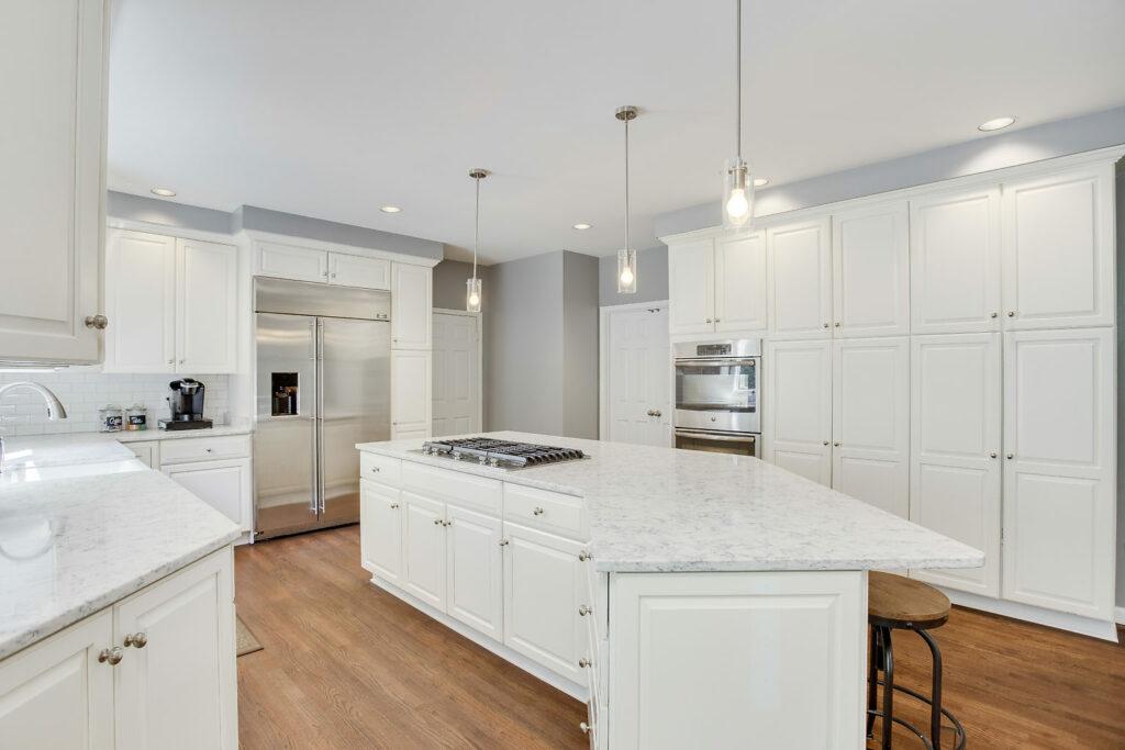white kitchen renovation modern farmhouse