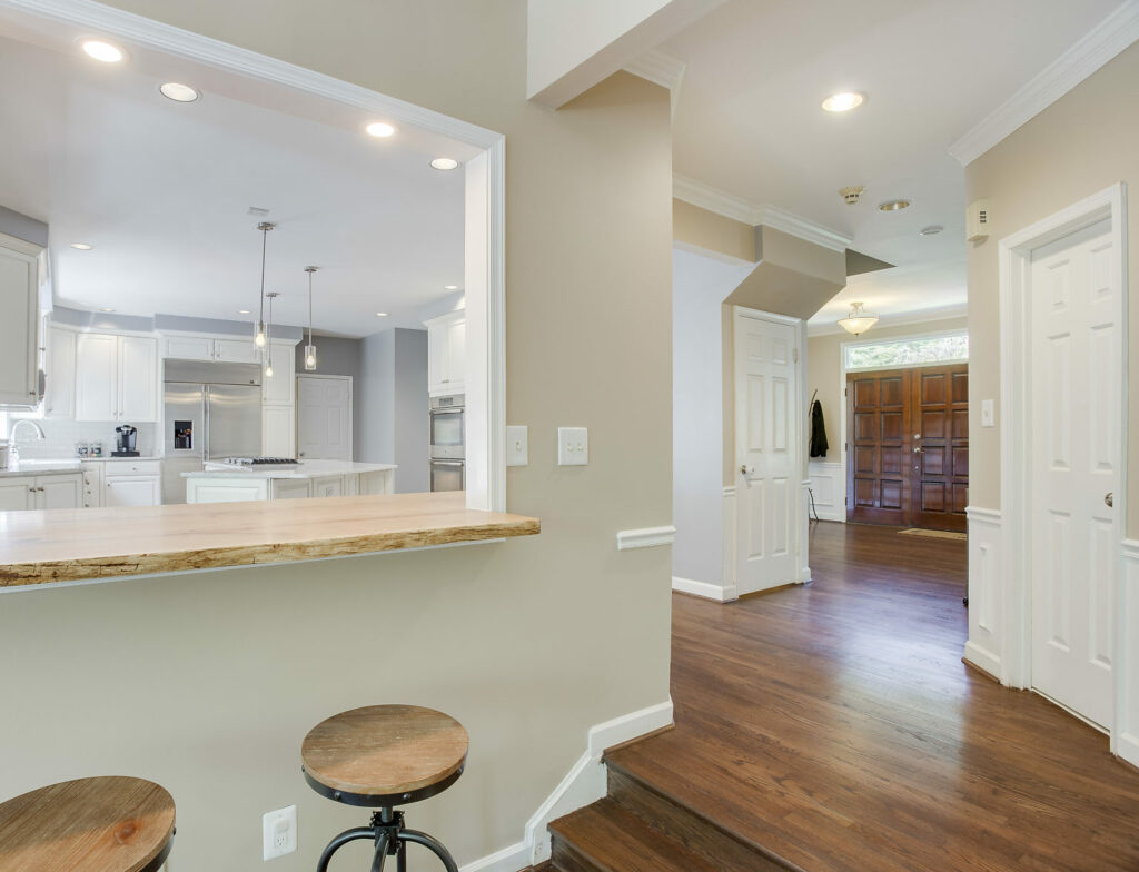 kitchen renovation white modern farmhouse DC