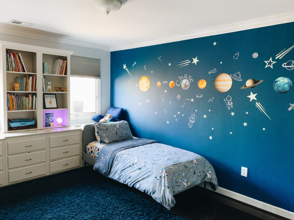 outer space themed big boy room