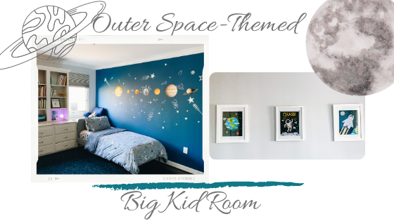 space themed big kid room